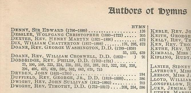 Doddridge 1905