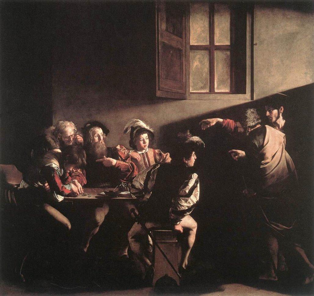 Calling of St. Matthew Caravaggio