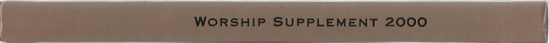 Worship Supplement 2000 Spine