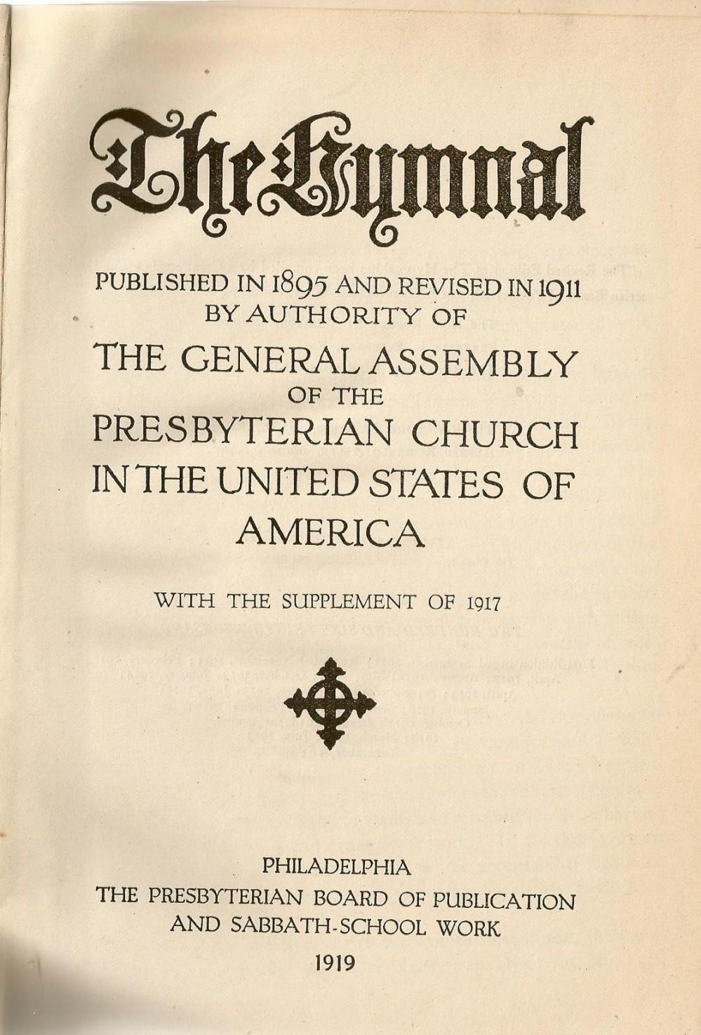 Hymnal 1911-1917