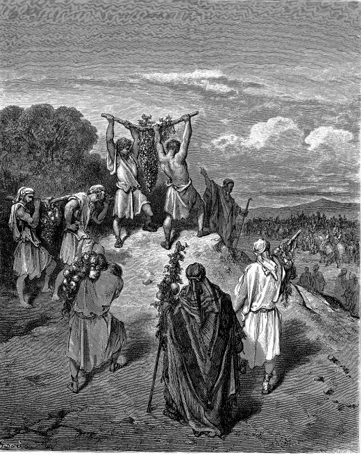 Return of the Spies from the Land of Promise Gustave Dore